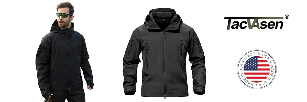 TACVASEN Performance Jacket Men for Off Road Use
