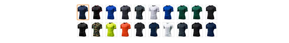 Tesla Compression Shirt Available Colors