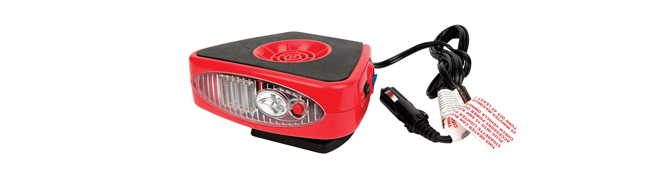 Portable 12V Heater for a Jeep Wrangler (Red)
