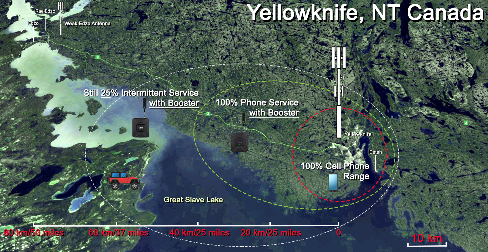 WeBoost Signal Phone Booster Test Yellowknife